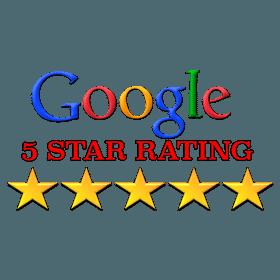 Google 5-star rating logo for stucco repair